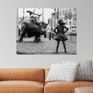 Fearless feminist wall artwork canvas